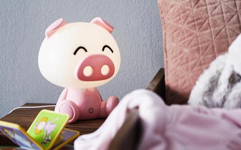 Kinderzimmerleuchte Schwein in rosa