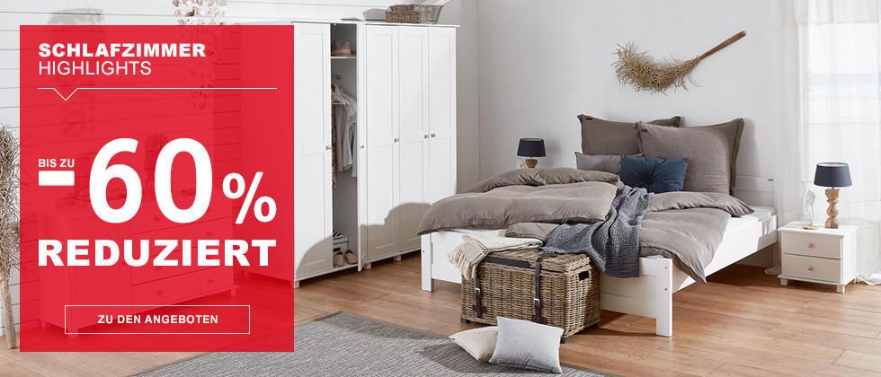 Schlafzimmer Highlights – bis zu -60 % reduziert