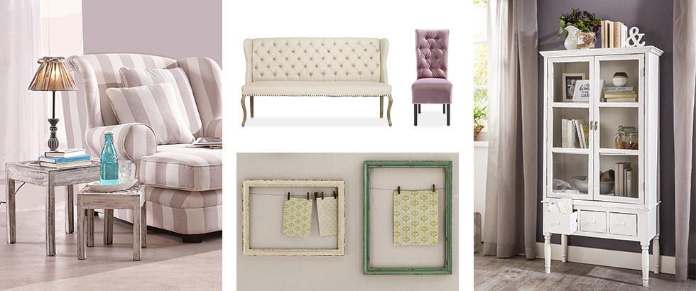 Möbel und Accessoires im Shabby Design