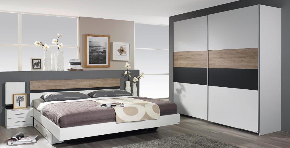 Bijelo drveno crna soba u Lesnini