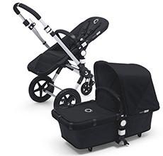 Kombikinderwagen mit Babywanne und Buggyaufsatz