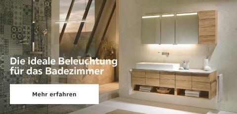 Die ideale Beleuchtung für Badezimmer