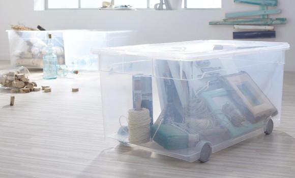 Frühjahrsputz Haushalt Box Wäsche mit Deckel