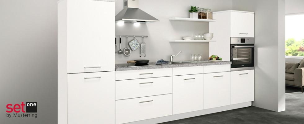 Set One by Musterring Malta Küchenzeile Weiß