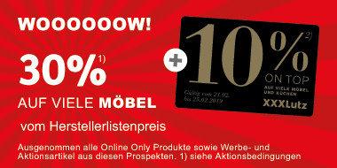 WOOOOOOW! 30% auf viele Möbel  vom Herstellerlistenpreis