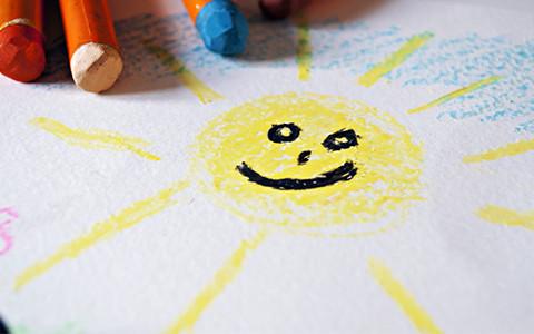 gemalte Sonne
