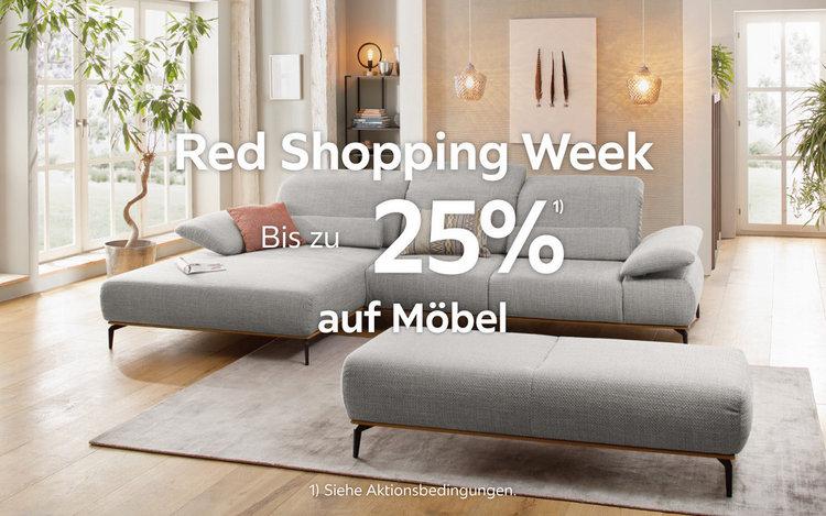 Red Shopping Week: Bis zu 25% auf Möbel