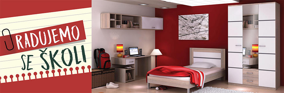 Moderna i praktična soba za mlade Lesnina XXXL