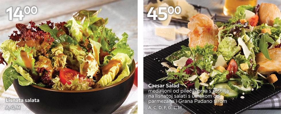 Lisnata i Ceaser salata u ponudi XXXL restorana