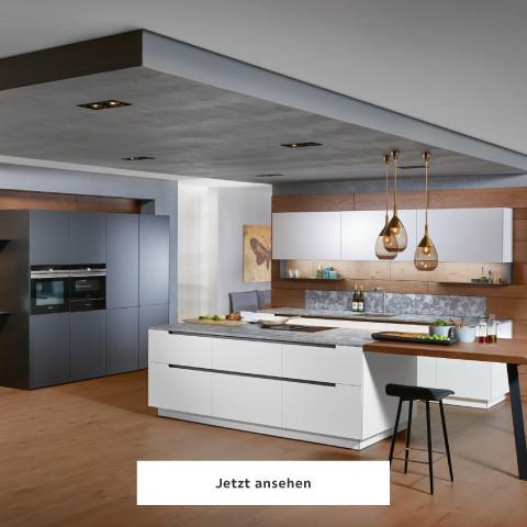 Ewe Küche schlicht modern Arbeitsplatte grau