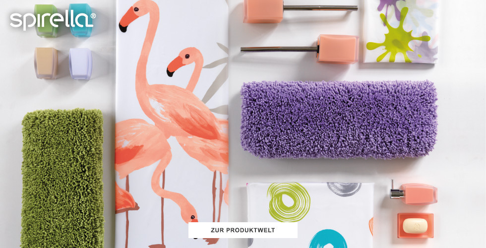 Farbenfrohe Badausstattung der Marke Spirella