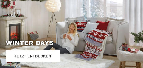 Winter Days Weihnachten Rot Kamin Couch