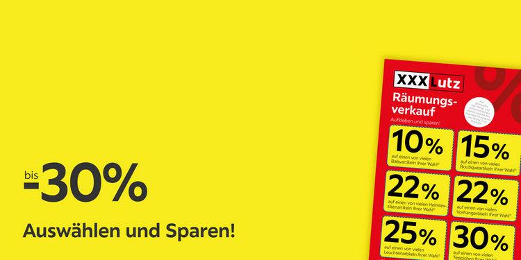Auswählen und Sparen! Bis zu 30% sparen