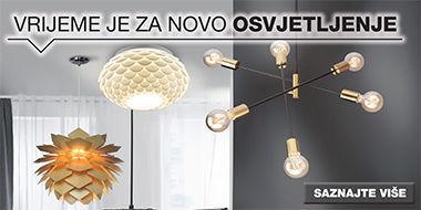 Zanimljiva i moderna rasvjetna tijela XXXL Lesnina