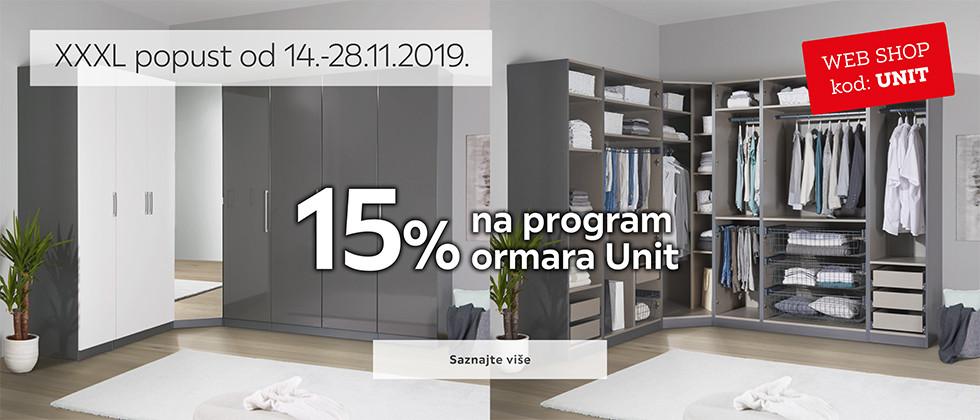 15% popusta na Unit elemente za ormare