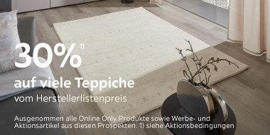 30% auf viele Teppiche vom Herstellerlistenpreis
