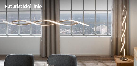 Futuristické tvary osvětlení