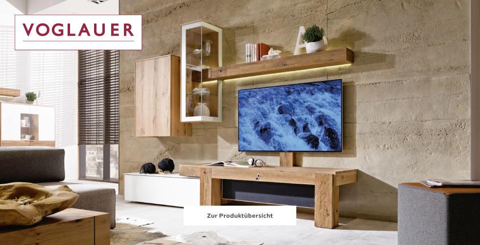 Voglauer Naturholzmöbel Braun Weiß Wohnzimmer