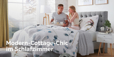 Modern Cottage im Schlafzimmer