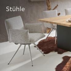 Venjakob Stühle Grau Silber