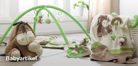 Babyartikel grün und braun