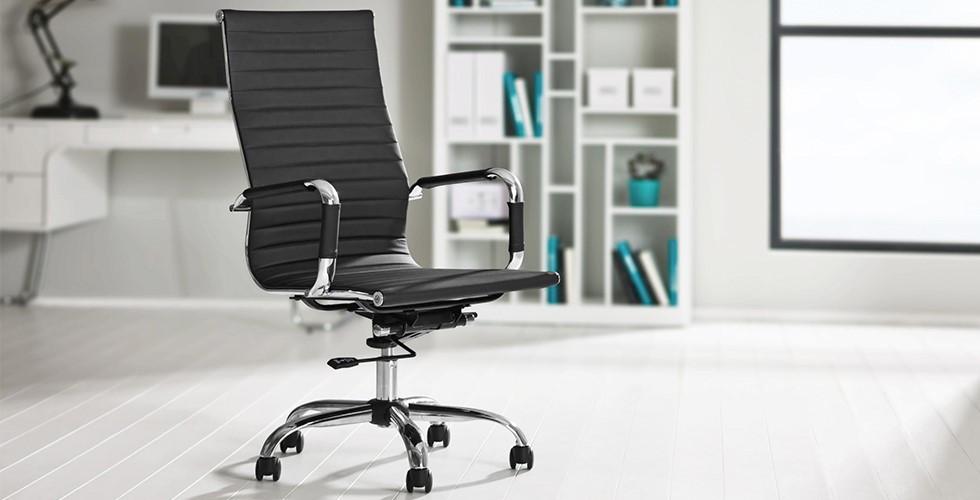 Chefsessel und Drehstuhl in einem, mit Wippfunktion, Lederoptik und Polsterung bei XXXLutz.