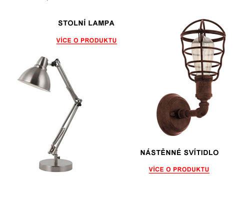 stolní lampa a nástěné svítidlo