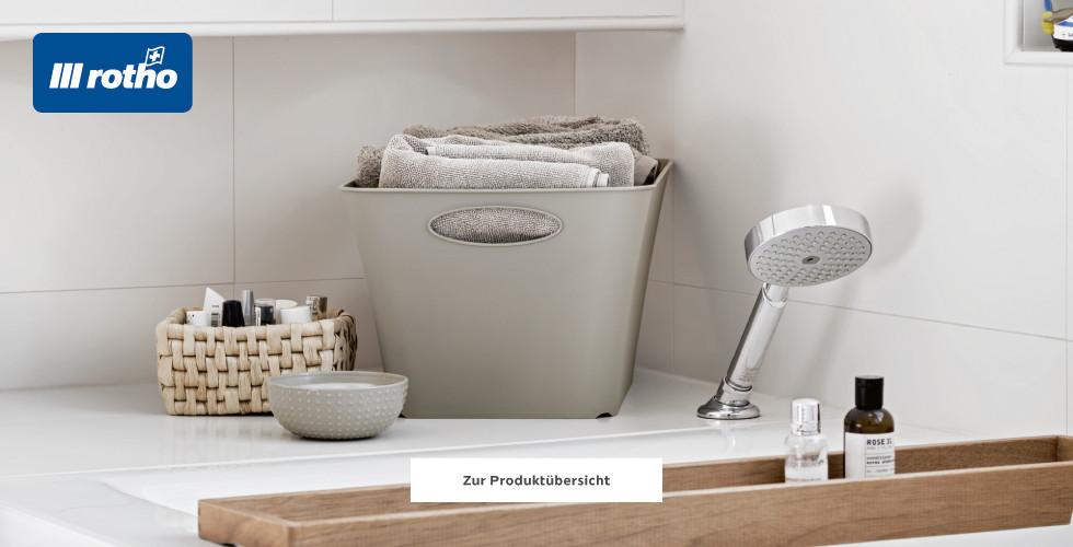Schlichte Aufbewahrungskörbe von Rotho für Badezimmer