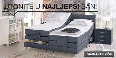 Moderan boxspring krevet sive boje XXXL Lesnina