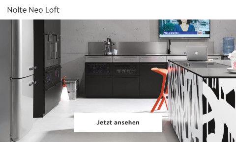 Nolte Neo Loft puristische Küche schwarz weiß