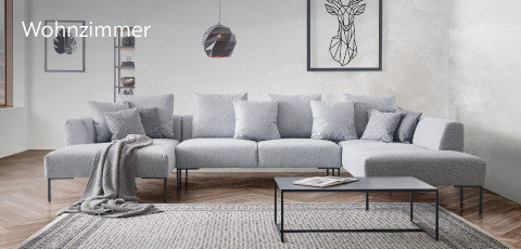 Lomoco Couch Wohnzimmer Grau