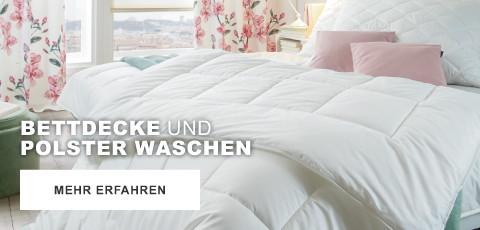 Bettdecke und Polster waschen