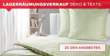 Lagerräumungsverkauf Deko & Textil