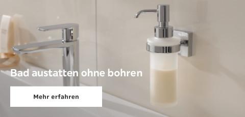 Bad ausstatten ohne Bohren