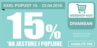 15% popusta na jastuke i poplune u Lesnini