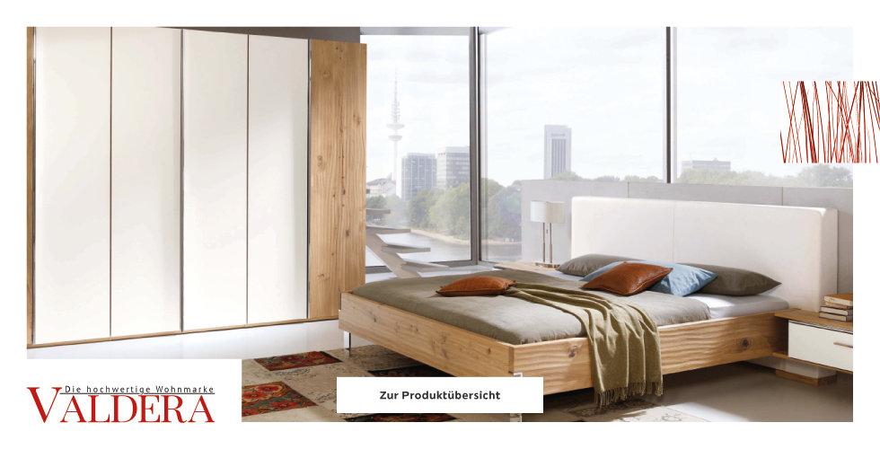 Valdera Schlafzimmer Betten Weiß Braun Grün
