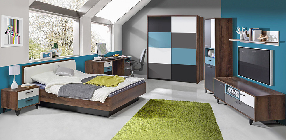 Jugendzimmer in coolen Farben