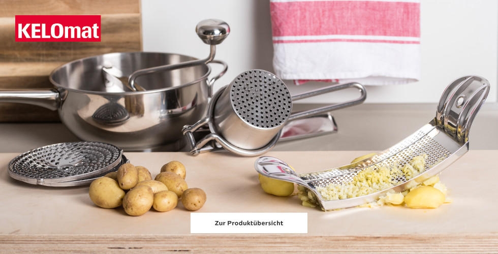 Kelomat Küchenhelfer Kartoffelpresse Reibe Sieb