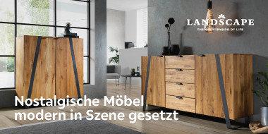 Nostalgische Möbel, modern in Szene gesetzt