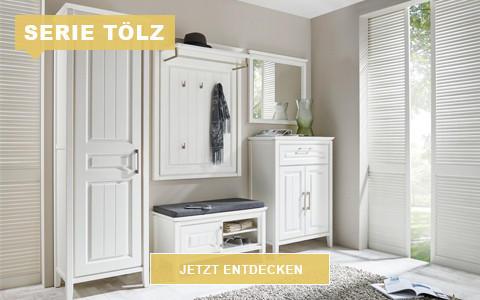 Garderobe Tölz weiß Landhausstil