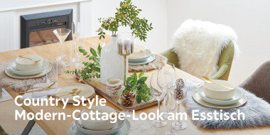 Country Style Modern-Cottage-Look am Esstisch