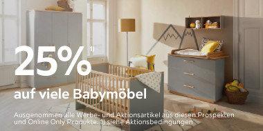 25% auf viele Babymöbel