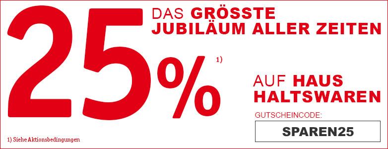 25% geschenkt