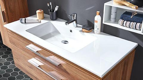 Waschbecken weiß rechteckig
