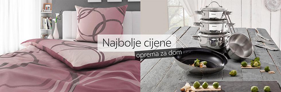 Kvalitetna posteljina za jednu osobu i set lonaca za kuhanje Lesnina XXXL