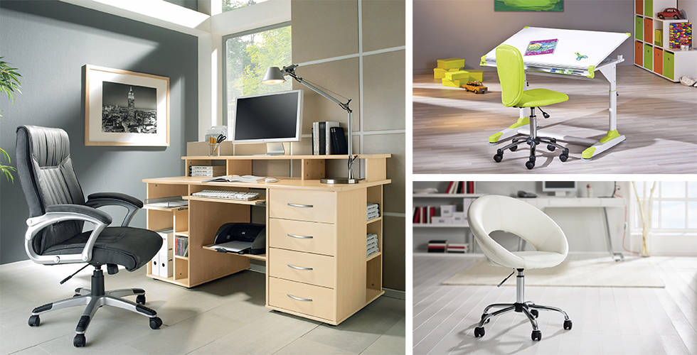Uredski stolovi i stolice u Lesnini