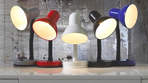 Lampy na psací stůl barevné