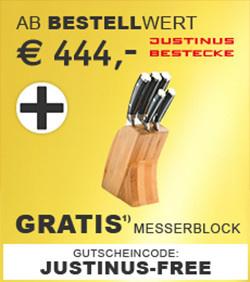 Gratis Messerblock ab 444,-€ Bestellwert