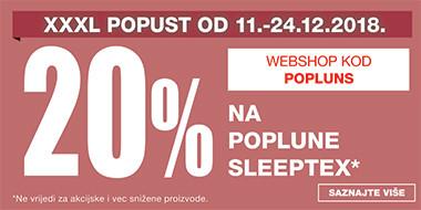 20% popusta na Sleeptex poplune u Lesnini
