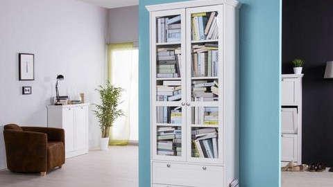 Bijela vitrina s knjigama
